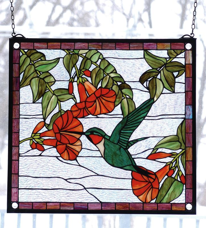Meyda Tiffany 81540 Stained Glass Tiffany Window from the Birds