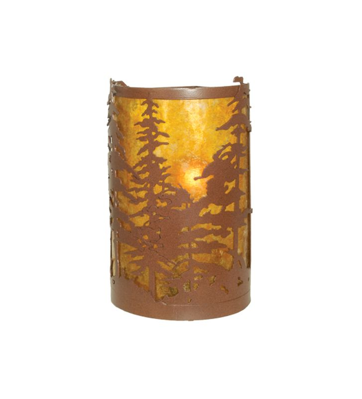 "Meyda Tiffany 81808 Tall Pines 6"" Wide 2 Light Wall Washer with Mica"