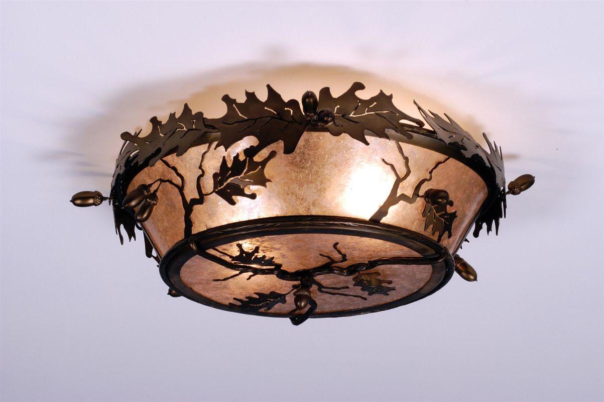 Meyda Tiffany 82070 Three Light Flush Mount Ceiling Fixture Antique