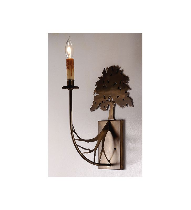 "Meyda Tiffany 82157 10"" Wide Single Light Wall Sconce Antique Copper"