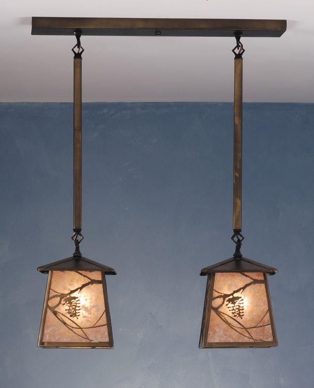 Meyda Tiffany 82388 Two Light Down Lighting Pendant Antique Copper