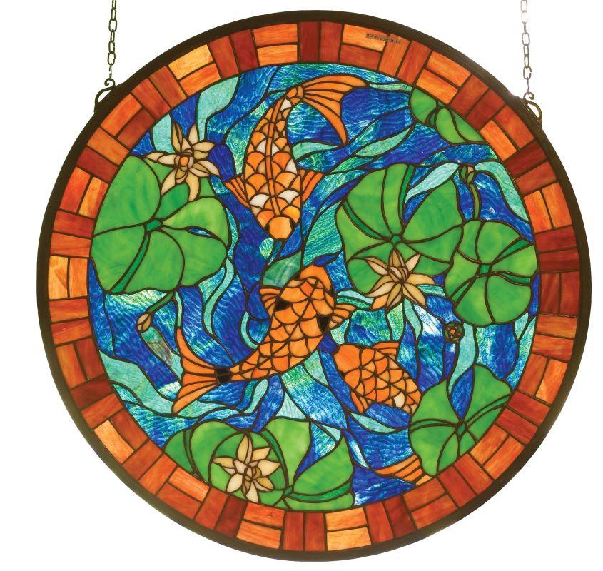 Meyda Tiffany 82558 Stained Glass Tiffany Window from the Seashore