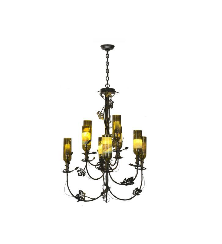 Meyda Tiffany 82695 Nine Light Up Lighting Two Tier Chandelier from Sale $2831.40 ITEM: bci877025 ID#:82695 UPC: 705696826957 :