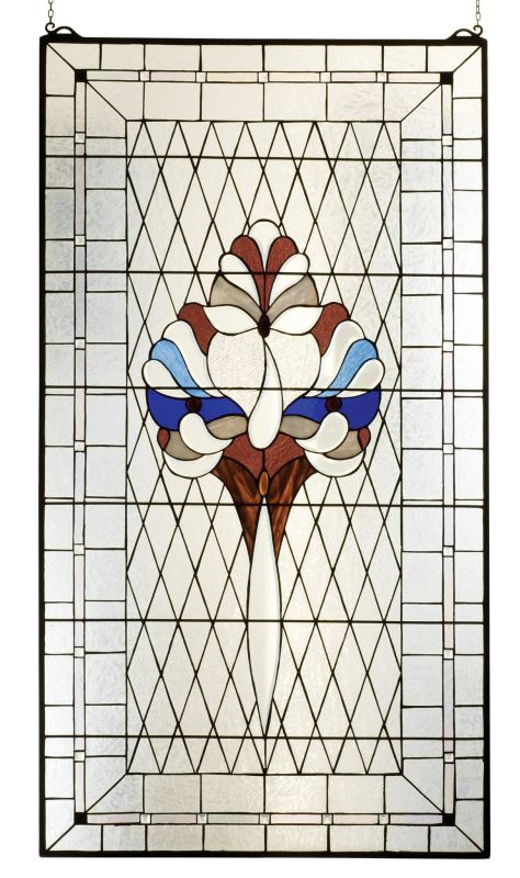 Meyda Tiffany 82719 Tiffany Custom Bevel Victorian Window Brass Home