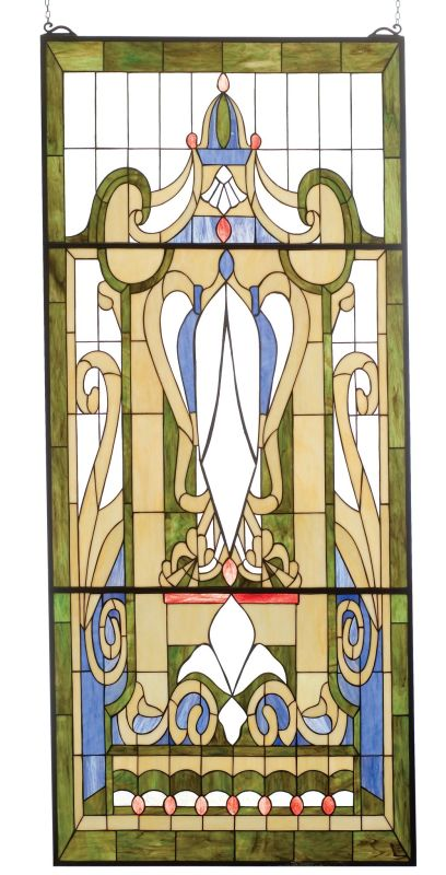 Meyda Tiffany 82720 Tiffany Royal Blue Windsor Window Brass Home Decor