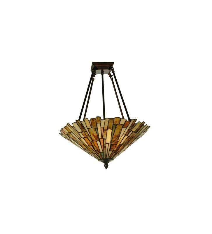 Meyda Tiffany 82749 Tiffany Four Light Down Lighting Semi Flush Sale $574.20 ITEM: bci877130 ID#:82749 UPC: 705696827497 :