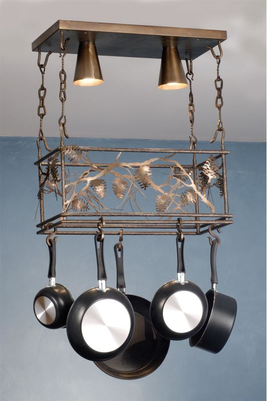 Meyda Tiffany 82756 Two Light Down Lighting Pot Rack from the