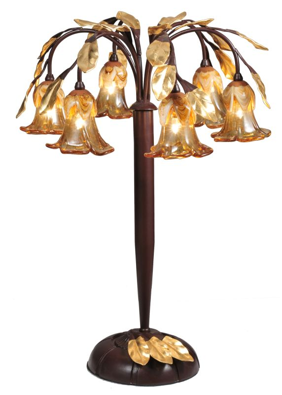 Meyda Tiffany 82761 Six Light Down Lighting Table Lamp from the