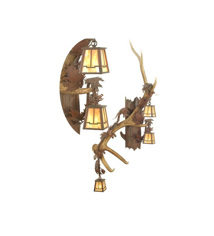 Meyda Tiffany 82834 Three Light Up / Down Lighting Left Facing Wall