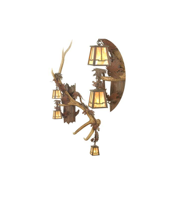Meyda Tiffany 82835 Three Light Up / Down Lighting Right Facing Wall