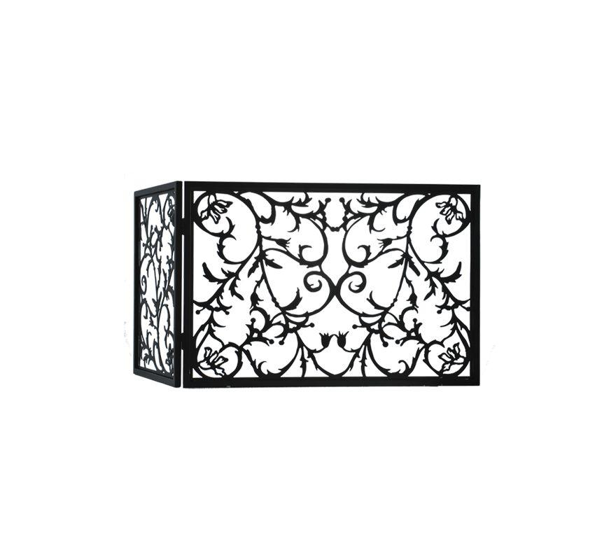 Meyda Tiffany 97928 Folding Fire Place Screen Black Accessory Screen
