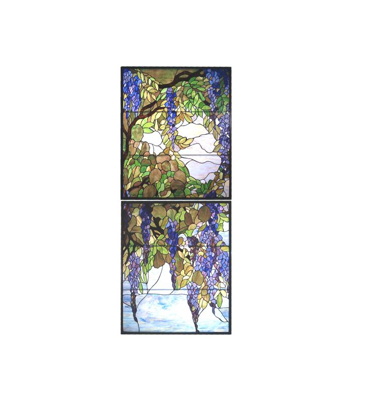 Meyda Tiffany 98047 Tiffany Wisteria and Snowball Custom Stained Glass