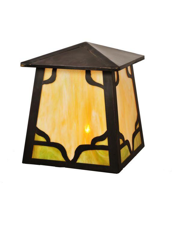 Meyda Tiffany 98049 Single Light Up Lighting Outdoor Post Mounted Post
