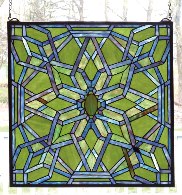 Meyda Tiffany 98070 Tiffany Starburst Window Brass Home Decor Stained
