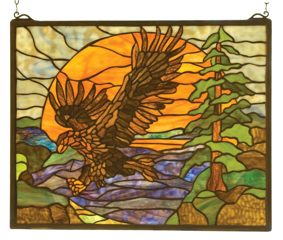 Meyda Tiffany 98106 Stained Glass Tiffany Window from the Northwoods