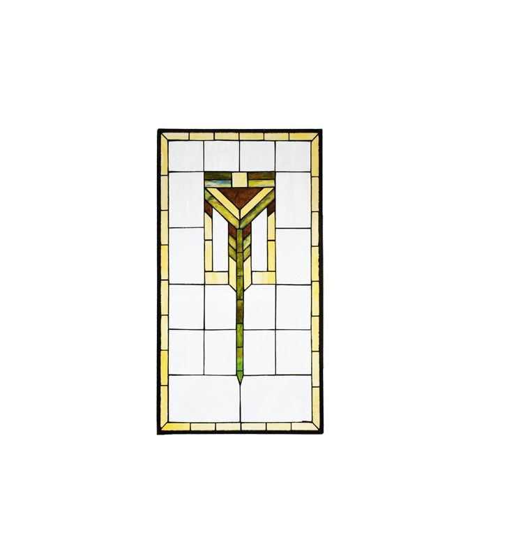 Meyda Tiffany 98129 Tiffany Rectangular Custom Stained Glass Window