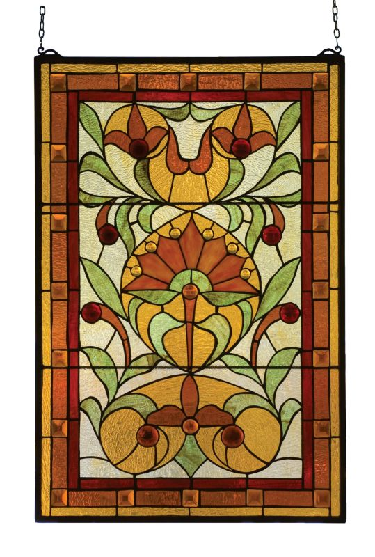 Meyda Tiffany 98229 Stained Glass Tiffany Window from the Tiffany