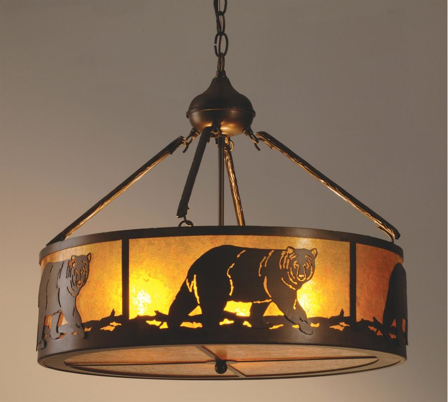 Meyda Tiffany 98440 Four Light Black Bear Pendant Indoor Lighting Sale $860.20 ITEM: bci626043 ID#:98440 UPC: 705696984404 :