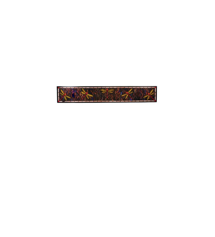Meyda Tiffany 98507 Tiffany Rectangular Stained Glass Window from the