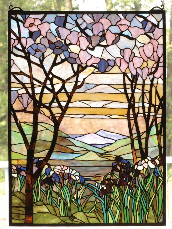 Meyda Tiffany 98589 Stained Glass Tiffany Window from the Magnolia