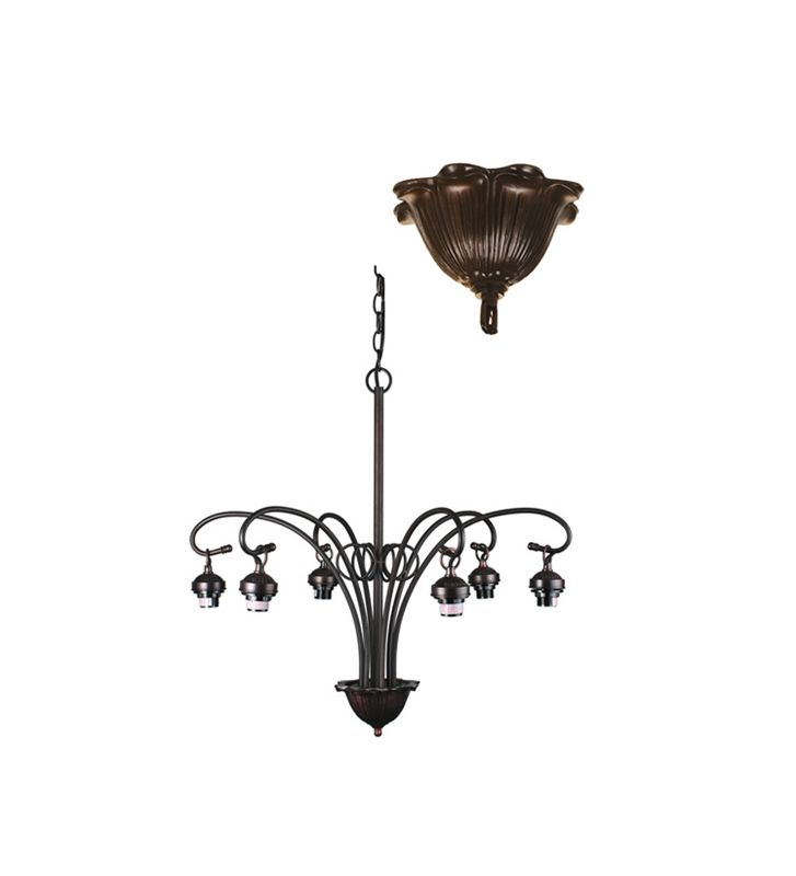 Meyda Tiffany 98631 Six Light Down Lighting Chandelier from the Sale $345.60 ITEM: bci876738 ID#:98631 UPC: 705696986316 :