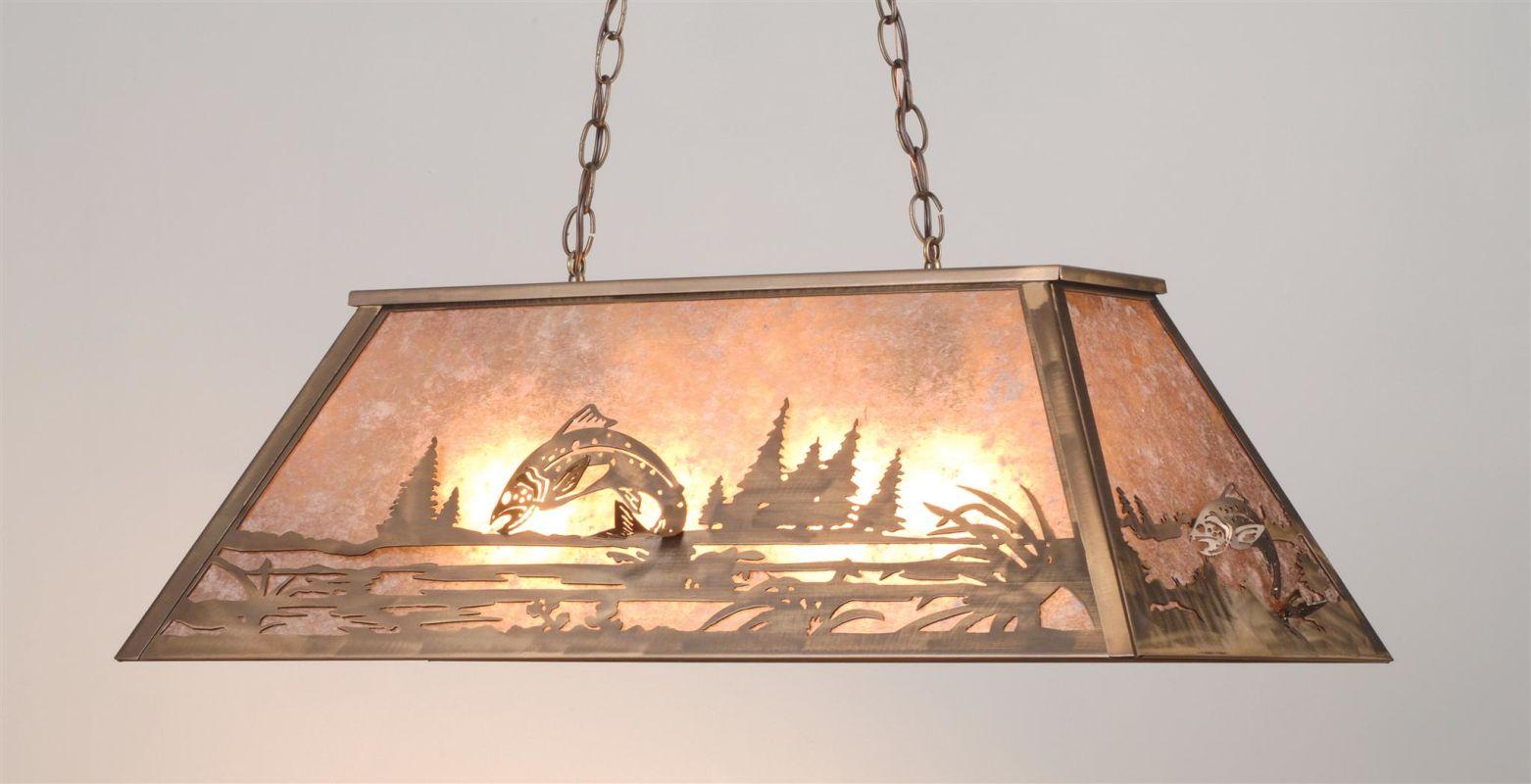 Meyda Tiffany 98682 Six Light Island / Billiard Fixture Antique Copper