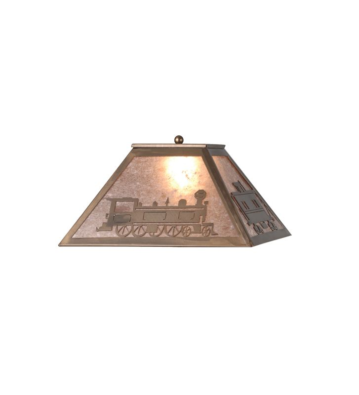 Meyda Tiffany 98689 Single Table Lamp Shade from the Train Collection