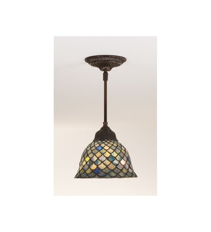 Meyda Tiffany 98823 Stained Glass / Tiffany Single Light Mini Pendant