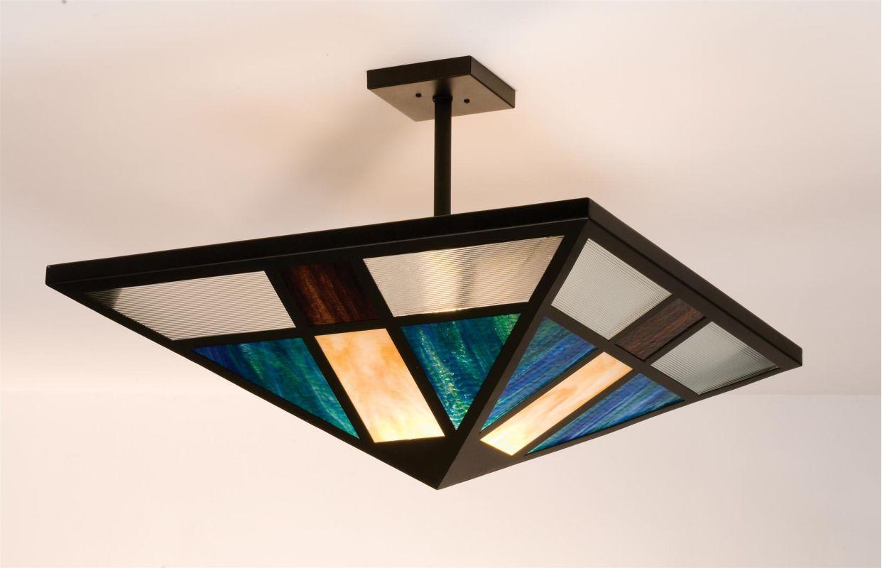 Meyda Tiffany 99209 Tiffany Single Light Semi-Flush Ceiling Fixture
