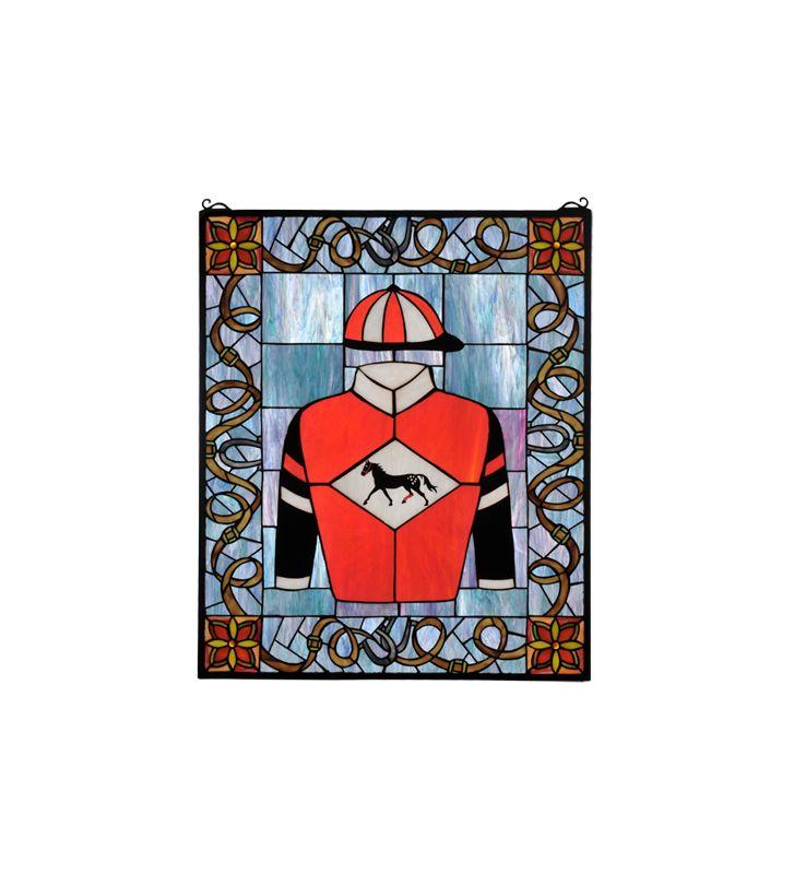 Meyda Tiffany 99363 Tiffany Rectangular Stained Glass Window Pane from