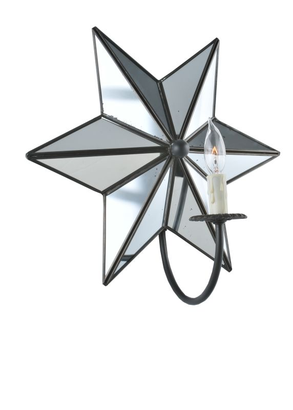 "Meyda Tiffany 99585 Stars 15"" Wide Single Light Wall Sconce Black"