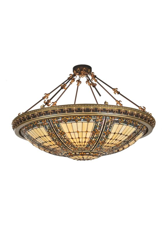 Meyda Tiffany 99693 Tiffany Eight Light Down Lighting Semi Flush Sale $3850.00 ITEM: bci876920 ID#:99693 UPC: 705696996933 :