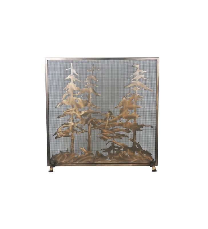 Meyda Tiffany 99766 Mesh Screen Fire screen from the Tall Pines