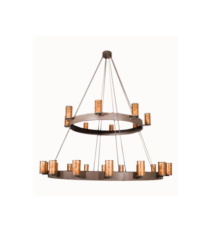 Meyda Tiffany 100641 Two Tier Up Lighting Chandelier Bronze Indoor