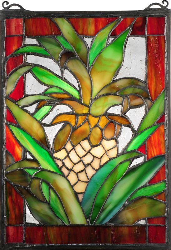 "Meyda Tiffany 106243 6"" W X 9"" H Welcome Pineapple Lighted Mini"