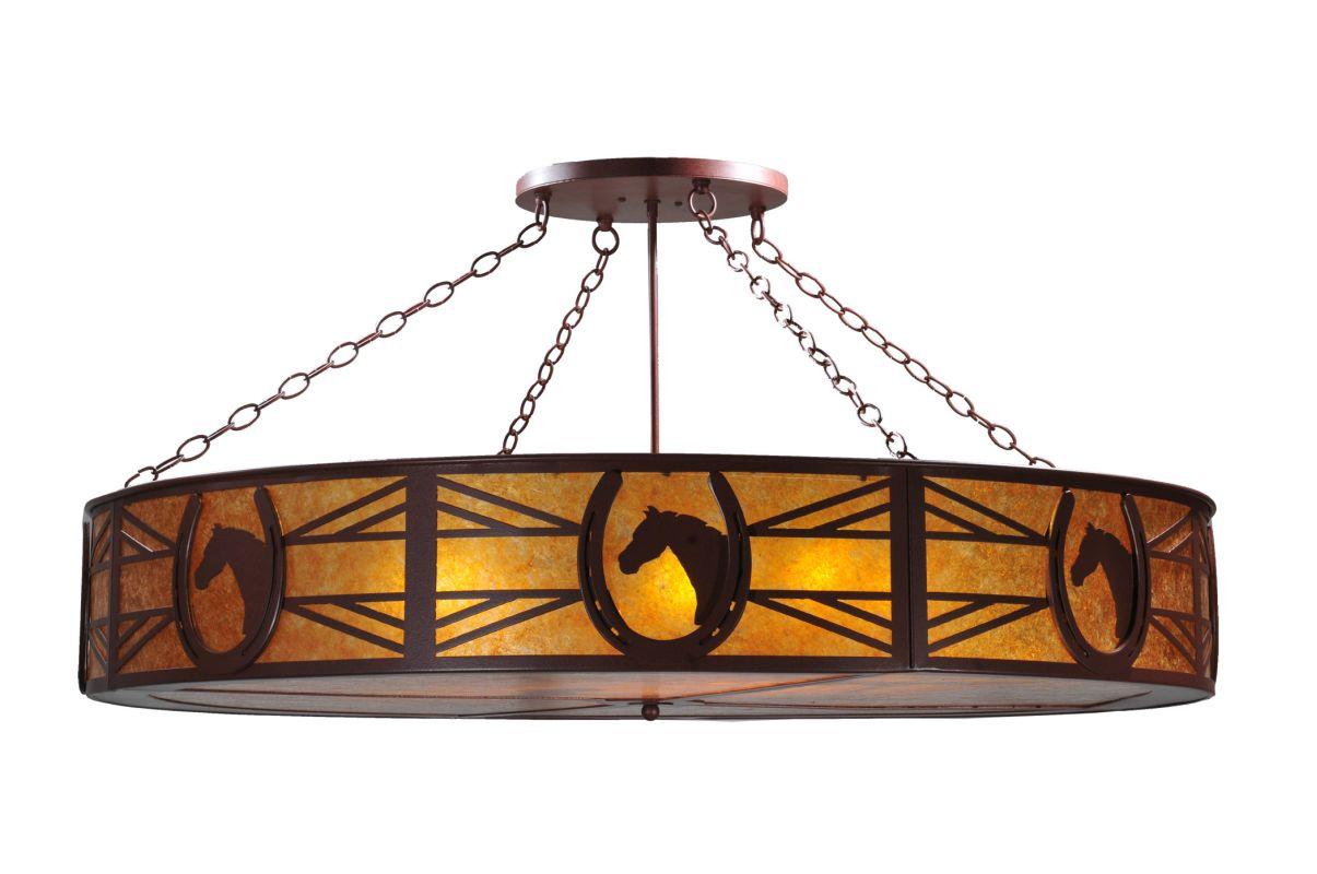 """Meyda Tiffany 106840 48"""" W Horseshoe Semi-Flushmount Ceiling Fixture"""