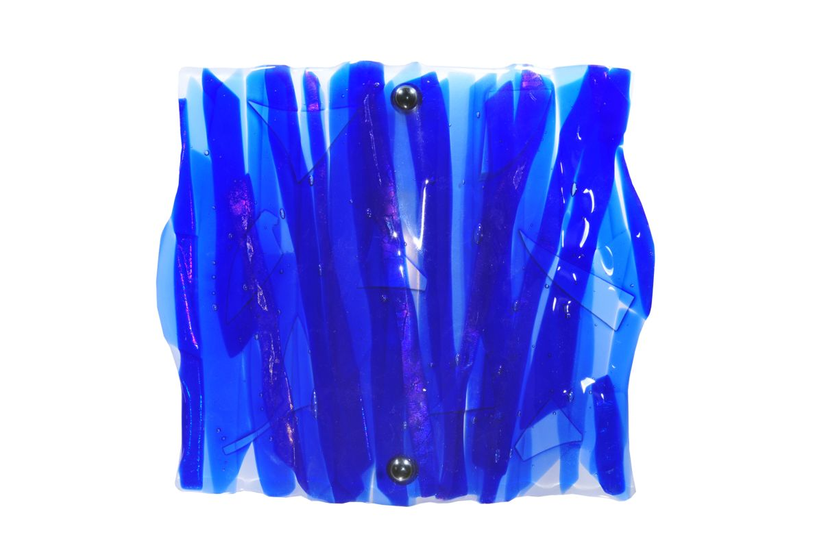 "Meyda Tiffany 107085 11"" W Azul Fused Glass Wall Sconce Blues / Clear"
