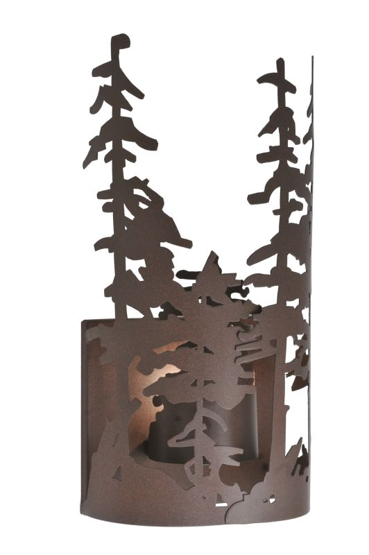 "Meyda Tiffany 107625 11"" W Tall Pines Wall Sconce Cafe Noir Indoor"