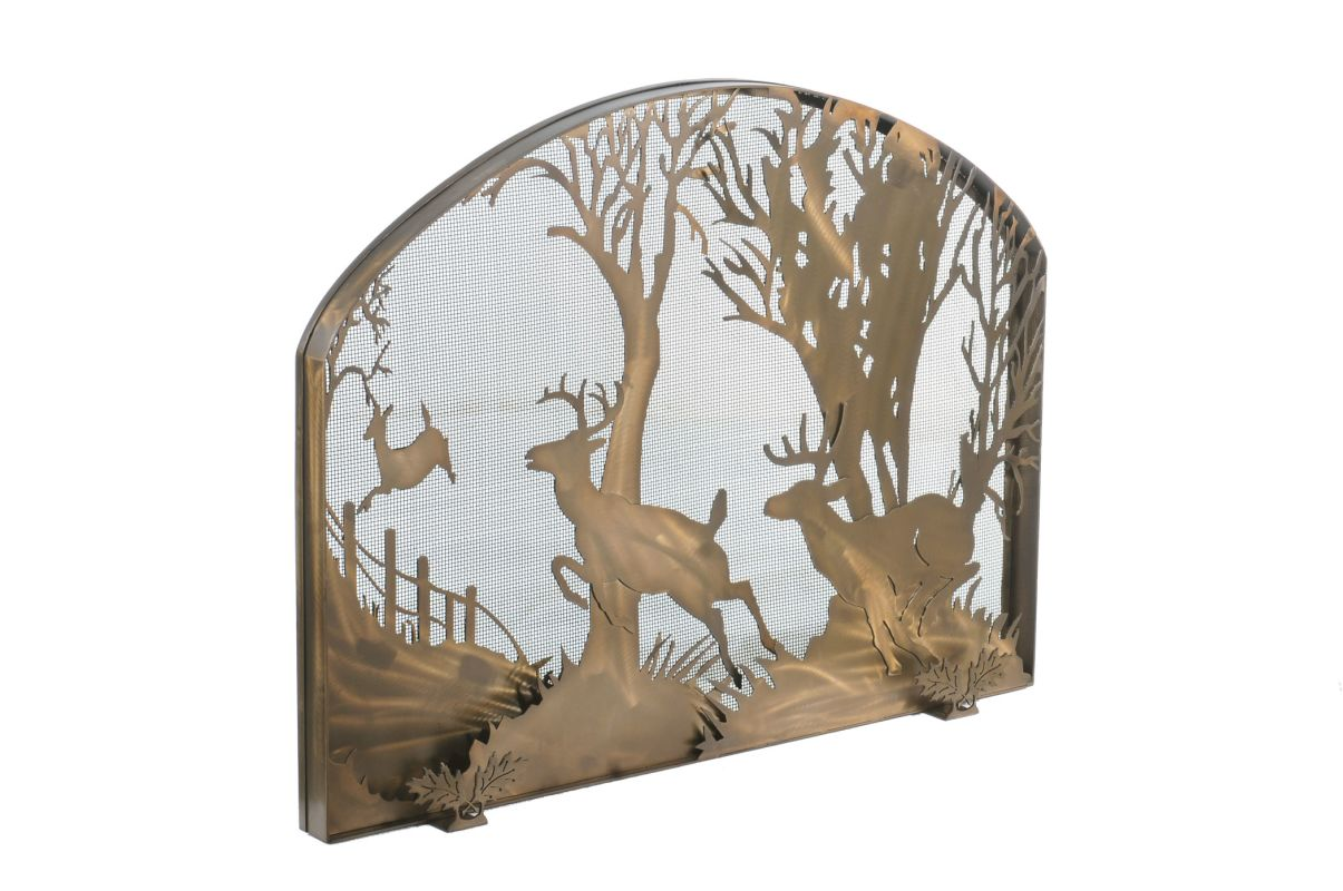 "Meyda Tiffany 107759 39.5"" W X 30"" H Deer On The Loose Arched"