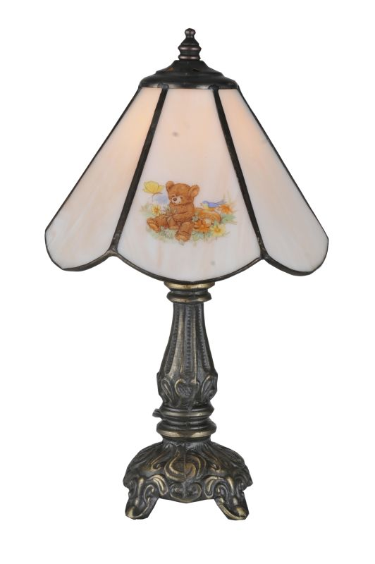 "Meyda Tiffany 107809 11.5"" H Teddy Bear Mini Lamp Peach Lamps"