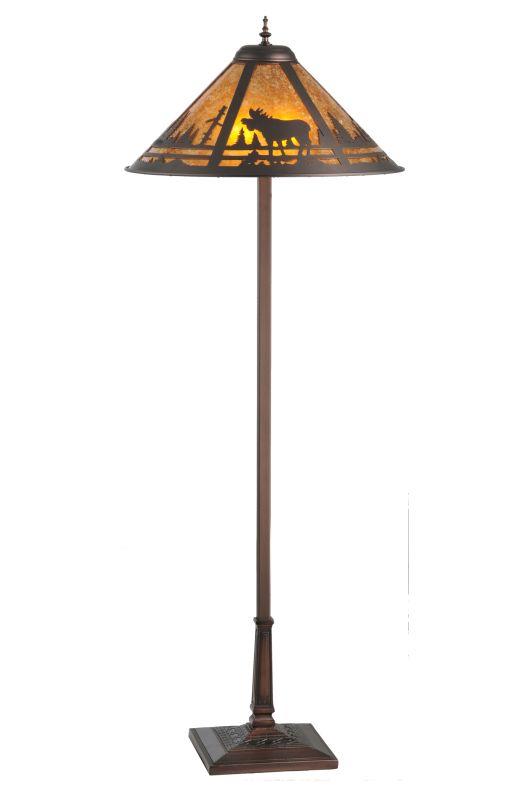 "Meyda Tiffany 107889 60"" H Moose Creek Floor Lamp Mahogany Bronze /"