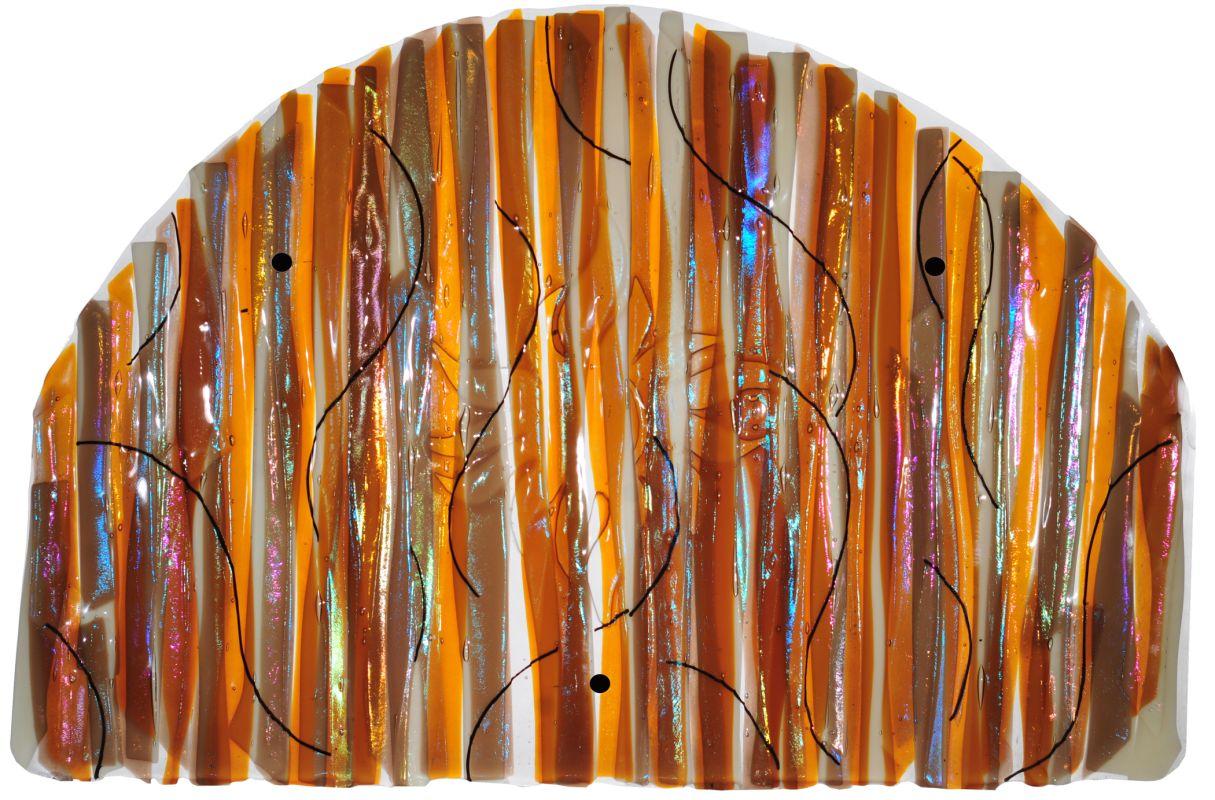 "Meyda Tiffany 108062 32"" W X 22"" H Marina Sun Fused Glass Wall Art"