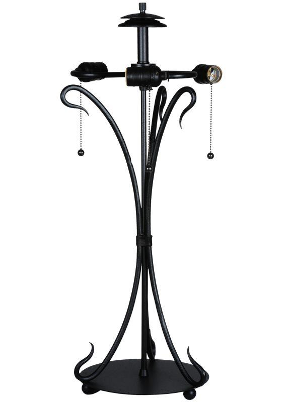 "Meyda Tiffany 108320 28"" H Wrought Iron Serpentine Base Black"