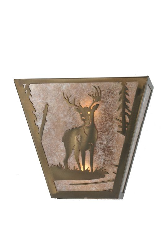 "Meyda Tiffany 108590 13"" W Deer Creek Wall Sconce Antique Copper /"
