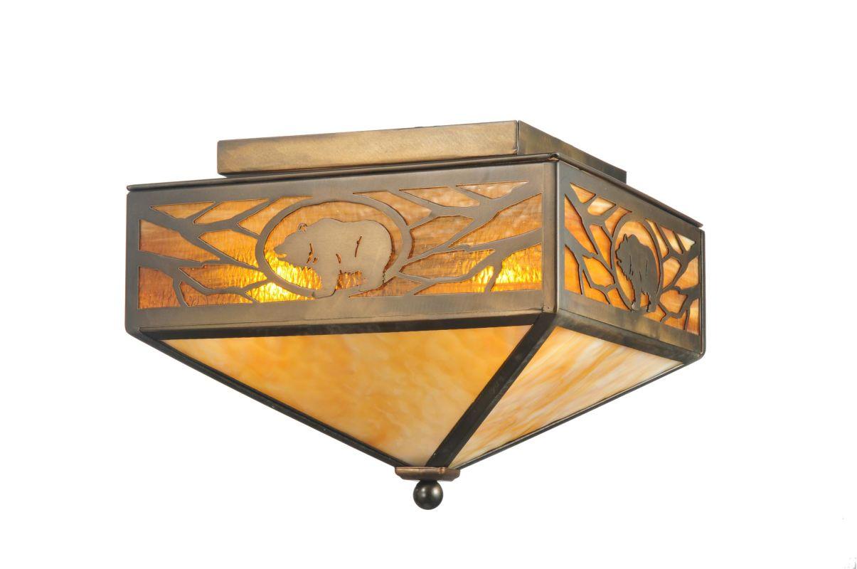 """Meyda Tiffany 109215 Antique Copper 12"""" Square Lone ..."""