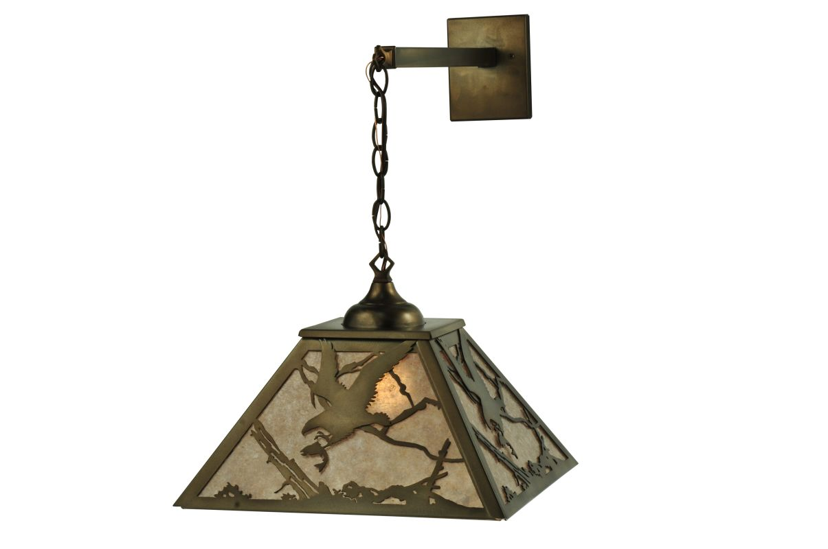 "Meyda Tiffany 110135 15.5"" W Strike Of The Eagle Hanging Wall Sconce"