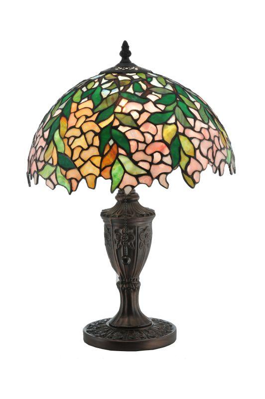 "Meyda Tiffany 110324 18"" H Tiffany Laburnum Accent Lamp Green Lamps"