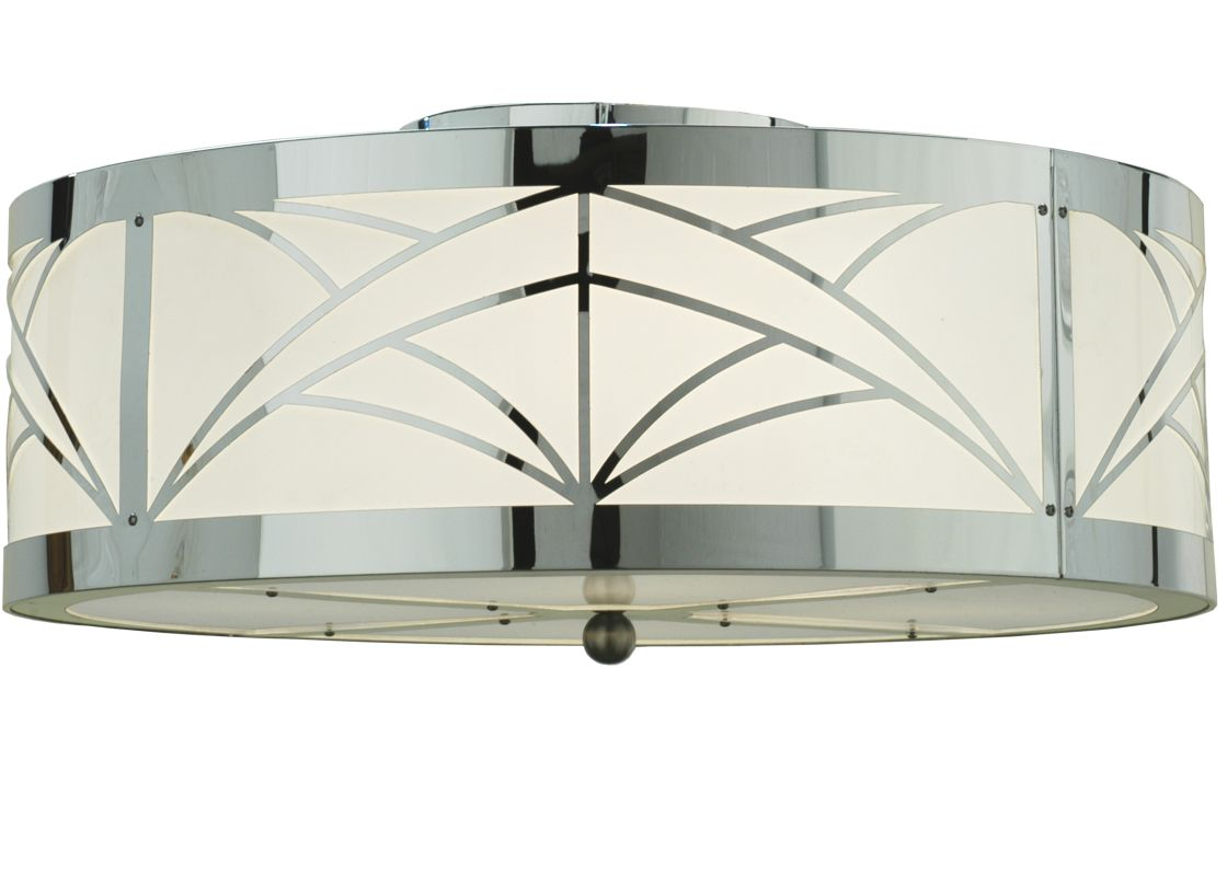 "Meyda Tiffany 110847 22"" W Cilindro Deco Flush Mount Ceiling Fixture"