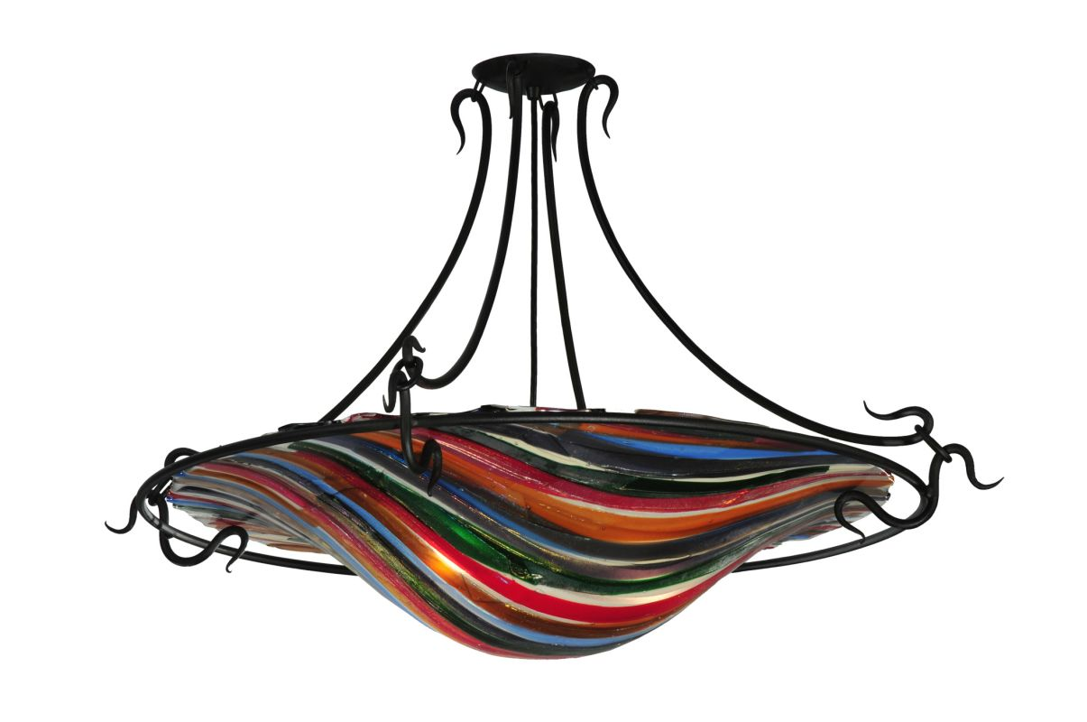 "Meyda Tiffany 110963 36"" W Fused Glass Semi-Flushmount Ceiling Fixture"