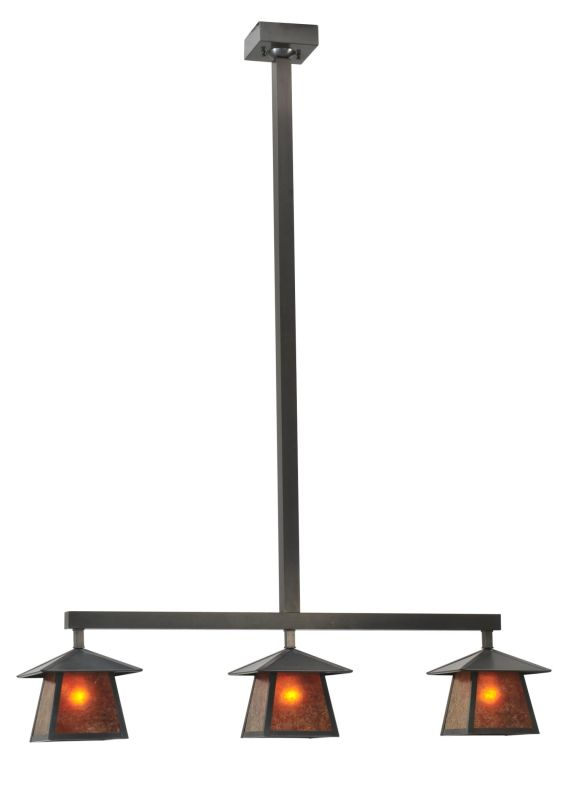 "Meyda Tiffany 111206 47.5"" L Stillwater Plain 3 Light Island"